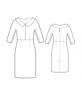 Custom-Fit Sewing Patterns - Fitted Dress With Collar