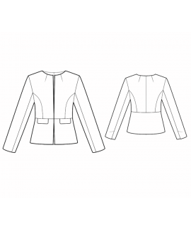Custom-Fit Sewing Patterns - Collarless Jacket With Front Pockets