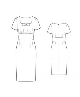 Custom-Fit Sewing Patterns - Fitted Dress With Bow