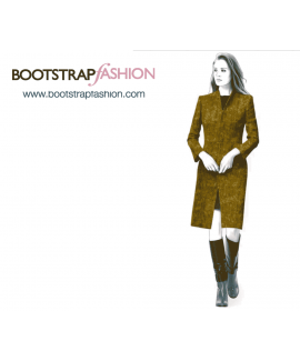 Custom-Fit Sewing Patterns - V-Neck Straight Coat