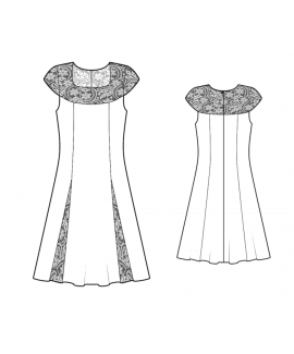 Custom-Fit Sewing Patterns - A-line Dress With Lace Yoke
