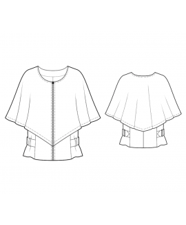 Custom-Fit Sewing Patterns - Poncho Coat With Side Buckles