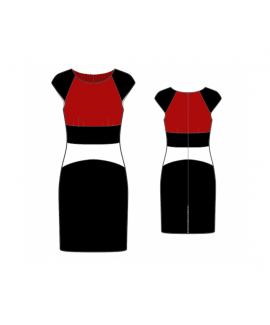 Custom-Fit Sewing Patterns - Fitted Dress With Raglan Sleeves