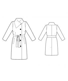 Custom-Fit Sewing Patterns - Coat With Asymmetrical Collar
