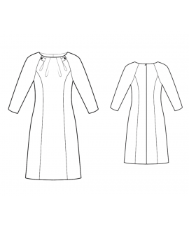 Custom-Fit Sewing Patterns - Raglan-Sleeved Dress With Pleated Neck