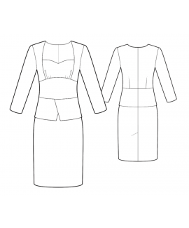 Custom-Fit Sewing Patterns - Jacket Imitation Dress With Peplum