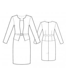 Custom-Fit Sewing Patterns -  Jacket Imitation Sheath