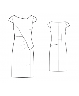 Custom-Fit Sewing Patterns - Asymmetrical Dress With Peplum