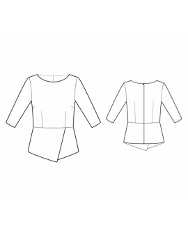 Custom-Fit Sewing Patterns - Blouse With Asymmetrical Peplum