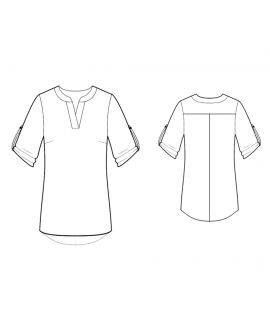 Custom-Fit Sewing Patterns - Mandarin Collar Tunic