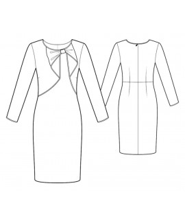 Custom-Fit Sewing Patterns - Long Sleeved Knit Dress