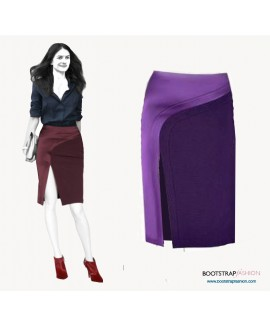 Custom-Fit Sewing Patterns - Asymmetrical Skirt With Slit Opening