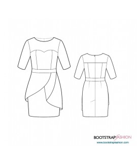 Custom-Fit Sewing Patterns -Sheath With Asymmetric Peplum