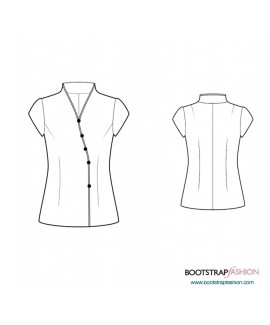 Custom-Fit Sewing Patterns - Blouse With Asymmetrical Closure