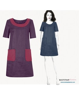 Custom-Fit Sewing Patterns -Dress With Pockets