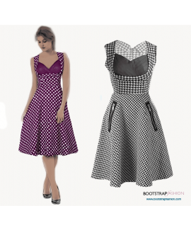 Custom-Fit Sewing Patterns - Dress With Front Draping
