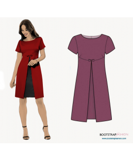 Custom-Fit Sewing Patterns - Dress With Front Pleat