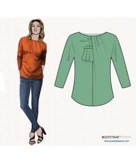 Custom-Fit Sewing Patterns - Blouse With Front Decoration
