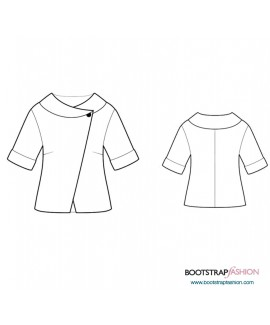 Custom-Fit Sewing Patterns - Short Sleeved Jacket With Cuffs