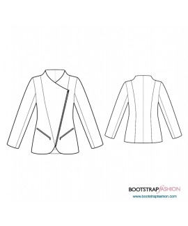 Custom-Fit Sewing Patterns - Jacket With Diagonal Zipper