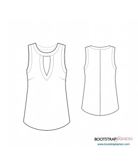 Custom-Fit Sewing Patterns - Top With Front Opening