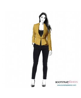 Custom-Fit Sewing Patterns - Jacket With Long Collar