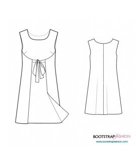 Custom-Fit Sewing Patterns - Dress With Front Flyaway