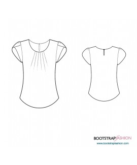 Custom-Fit Sewing Patterns - Blouse With Decorative Sleeve