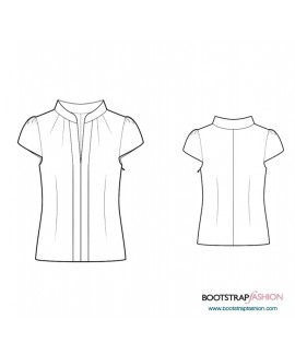 Custom-Fit Sewing Patterns - Blouse With Mandarin Collar