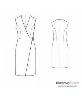 Custom-Fit Sewing Patterns - Sleeveless Wrap Sheath