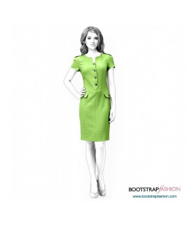 Custom-Fit Sewing Patterns - Dress With Flaps