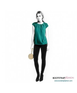 Custom-Fit Sewing Patterns - Blouse With Short Raglan Sleeves