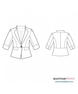 Custom-Fit Sewing Patterns - Jacket With Peplum
