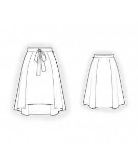 Custom-Fit Sewing Patterns - Skirt With Shortened Front
