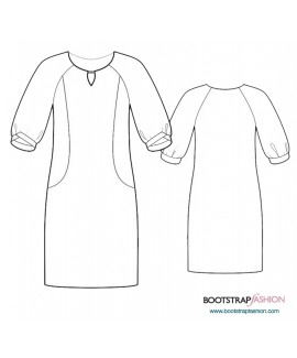 Custom-Fit Sewing Patterns -Knit Dress With Keyhole Opening