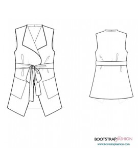 Custom-Fit Sewing Patterns - Vest With Pockets