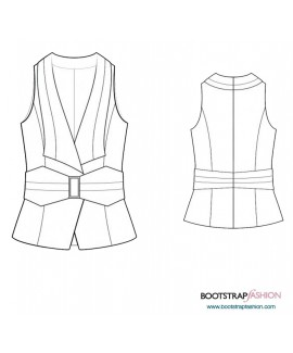 Custom-Fit Sewing Patterns - Vest With Collar