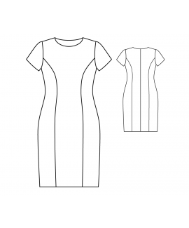 Custom-Fit Sewing Patterns - Princess Seams Dress with Short Sleeves