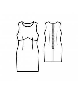 Custom-Fit Sewing Patterns - Peaked Empire Waist Sheath