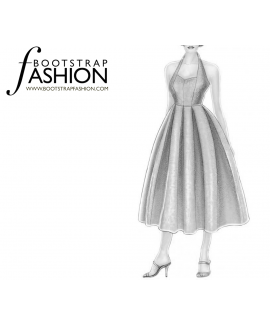 Custom-Fit Sewing Patterns - Halter Fit-and-Flare Sundress