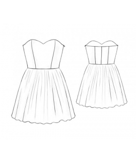 Custom-Fit Sewing Patterns - Strapless Mini Dress