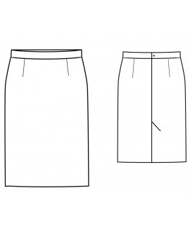 Custom-Fit Sewing Patterns - Classic Straight Skirt