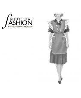 Custom-Fit Sewing Patterns - Winged Apron Uniform