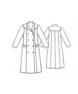 Custom-Fit Sewing Patterns - Double Breasted Maxi Trench