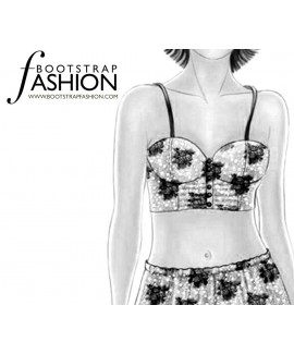 Custom-Fit Sewing Patterns - Satin Or Batiste Bustier