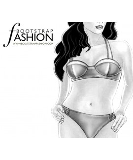 Custom-Fit Sewing Patterns - Swimwear Halter Bra