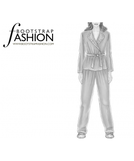 Custom-Fit Sewing Patterns - Tapered Pajama Bottoms