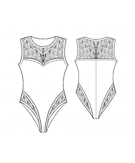 Custom-Fit Sewing Patterns - Lace Trimmed Bodysuit