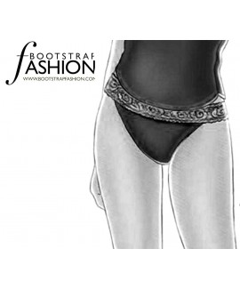 Custom-Fit Sewing Patterns - Lace Trimmed Thong