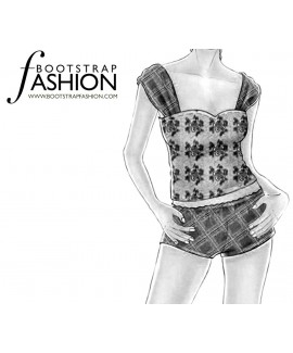 Custom-Fit Sewing Patterns - Wide Strap Cami